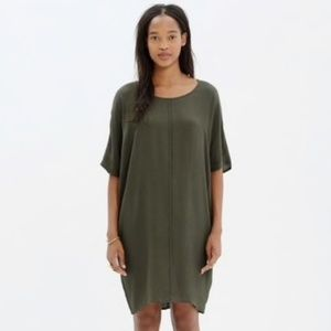 Madewell Dark Green Easy Shift Dress